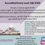 ESOL Entry 1 and 2 poster Sept 2017