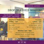 Drop-in advice session leaflet