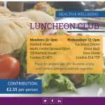 Luncheon Club Leaflet