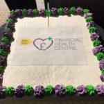 Financial Health Centre launch cake