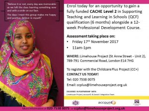 CC+ Project Assessment day details - 17 Nov 2017