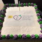 Financial Health Centre launch cake